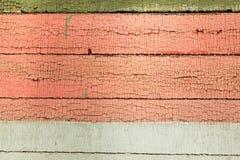 Barwionego drewnianego deska panelu horyzontalny tło Fotografia Stock