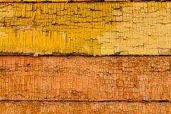Barwionego drewnianego deska panelu horyzontalny tło Zdjęcia Royalty Free