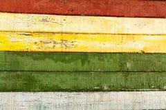 Barwionego drewnianego deska panelu horyzontalny tło Obrazy Stock