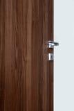Barwionego drewnianego drzwi otwarty d Obraz Royalty Free
