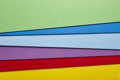 Barwionego kartonu tła czerwony purpurowy błękitny brzmienie kosmos kopii zdjęcie stock