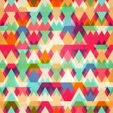 Barwionego trójboka bezszwowy wzór Zdjęcie Royalty Free