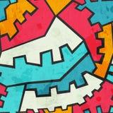 Barwionej przekładni bezszwowy wzór z grunge skutkiem Fotografia Royalty Free
