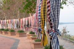 barwionej tkaniny wielo- pasiasty obrazy stock