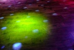 Barwioni światła na podłoga Fotografia Royalty Free