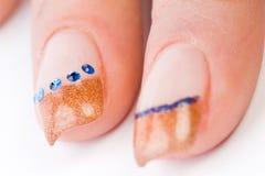 barwioni żeńscy paznokcie Obrazy Royalty Free