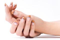 barwioni żeńscy paznokcie Zdjęcie Royalty Free