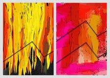 Barwioni abstrakcjonistyczni tła ilustracja wektor