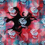 Barwioni abstrakta wzoru graffiti Obrazy Royalty Free