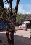 Barwioni afrykanów ornamenty robić koraliki i a Obrazy Stock