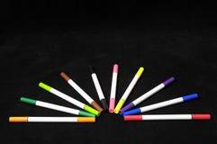 Barwioni atramentów markiery Zdjęcia Stock