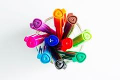 Barwioni atramentów pióra Fotografia Stock