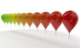 Barwioni ballons tło, 3d rendering Obraz Royalty Free