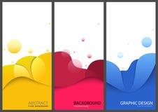 Barwioni Biznesowi sztandary lub broszurka szablony royalty ilustracja