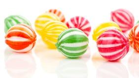 Barwioni cukierki Fotografia Stock