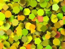 Barwioni 3d geometryczni kształty Zdjęcia Stock
