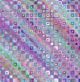 barwioni deseniowi kwadraty Obraz Stock