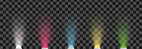 Barwioni dowodzeni diod światła Wektorowi światła reflektorów ilustracyjni Zdjęcie Royalty Free