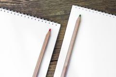 Barwioni drewniani ołówki Obraz Royalty Free