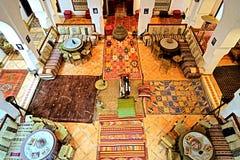 Barwioni dywany w Berber domu Fotografia Stock