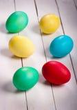 Barwioni Easter jajka Zdjęcia Stock