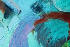 Barwioni farb uderzenia sztuki abstrakcjonistycznej tło Szczegół dzieło sztuki Dzisiejsza ustawa struktura kolorowa gęsta farba Zdjęcia Royalty Free
