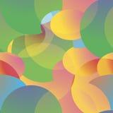 Barwioni geometryczni kształty patern bezszwowy Obrazy Stock
