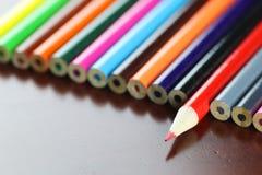 barwioni grupowi ołówki Zdjęcie Stock