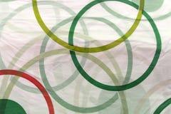 Barwioni gumowi pierścionki na białym tle zdjęcie royalty free