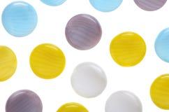 Barwioni guziki na odizolowywającym Zdjęcie Royalty Free