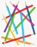 barwioni ilustracyjni ołówki Zdjęcia Stock
