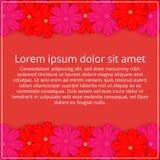 barwioni karta kwiaty Kwiecisty zaproszenie Wiosna jest Obrazy Royalty Free