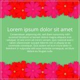 barwioni karta kwiaty Kwiecisty zaproszenie Wiosna jest Zdjęcia Stock