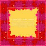 barwioni karta kwiaty Kwiecisty zaproszenie Wiosna jest Zdjęcie Stock