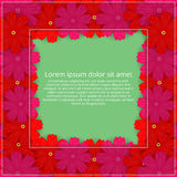 barwioni karta kwiaty Kwiecisty zaproszenie Wiosna jest Zdjęcia Royalty Free