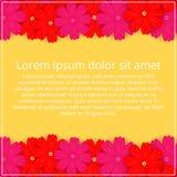 barwioni karta kwiaty Kwiecisty zaproszenie Wiosna jest Fotografia Royalty Free