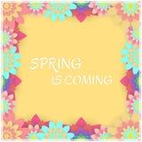 barwioni karta kwiaty Zaproszenie karta dla poślubiać, Fotografia Stock