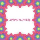 barwioni karta kwiaty Zaproszenie karta dla poślubiać, Zdjęcia Royalty Free