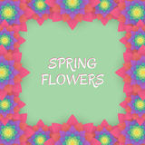 barwioni karta kwiaty Zaproszenie karta dla poślubiać, Zdjęcie Stock