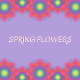 barwioni karta kwiaty Zaproszenie karta dla poślubiać, Obraz Royalty Free