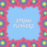 barwioni karta kwiaty Zaproszenie karta dla poślubiać, Fotografia Royalty Free