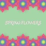 barwioni karta kwiaty Zaproszenie karta dla poślubiać, Obrazy Stock