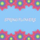 barwioni karta kwiaty Zaproszenie karta dla poślubiać, Obraz Stock