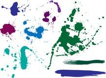 Barwioni kleksy i pluśnięcia ilustracji