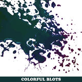 Barwioni kleksy na białym tle Obrazy Stock