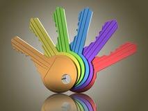 Barwioni klucze Obrazy Stock