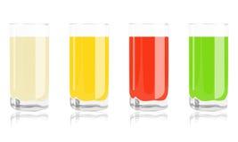 Barwioni koktajle w szkle Obraz Stock