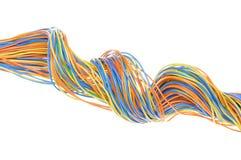 Barwioni komputerów kable Zdjęcie Stock