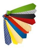 barwioni krawaty Obraz Stock