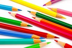 barwioni kreatywnie ołówki Obrazy Royalty Free